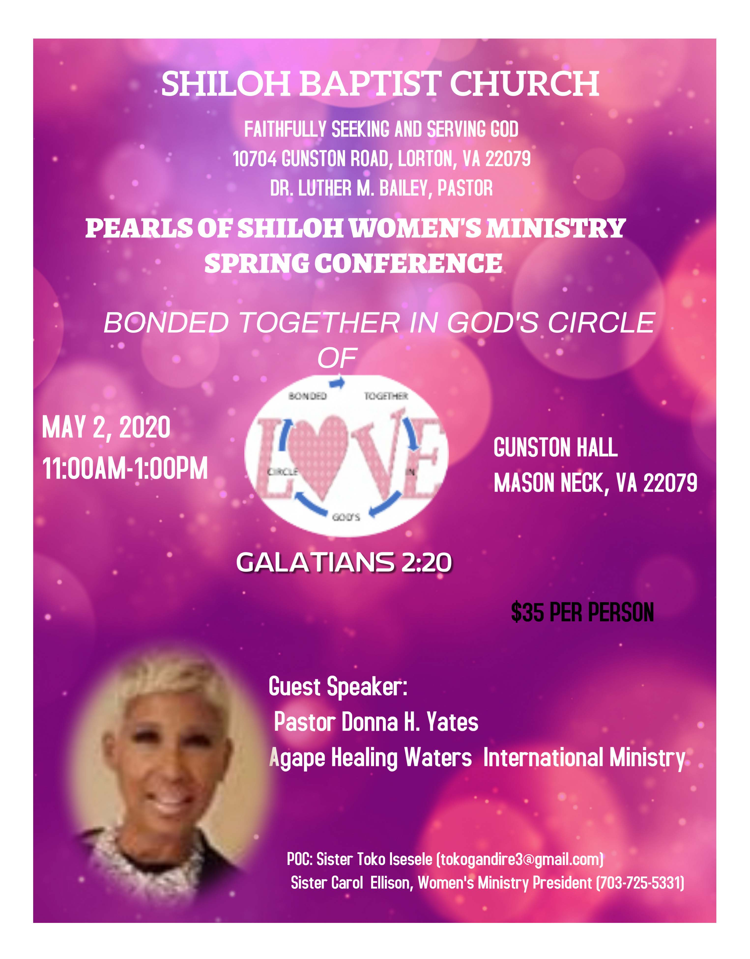 Womens Ministry Spring Conf 2020